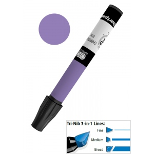 Chartpak® AD™ Art Marker Violet: Purple, Xylene-Based, Tri-Nib, (model AP94), price per each