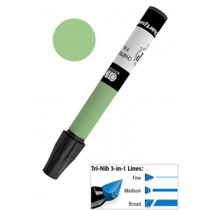 Chartpak® AD™ Art Marker Jade: Green, Xylene-Based, Tri-Nib, (model AP25/BX), price per box