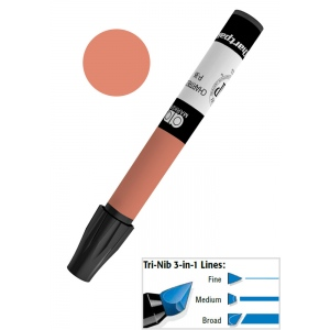 Chartpak® AD™ Art Marker Burnt Umber: Brown, Xylene-Based, Tri-Nib, (model AP71/BX), price per box