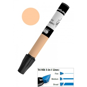 Chartpak® AD™ Art Marker Kraft Sepia: Brown, Xylene-Based, Tri-Nib, (model AP55/BX), price per box