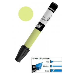 Chartpak® AD™ Art Marker Chartreuse: Green, Xylene-Based, Tri-Nib, (model AP36/BX), price per box