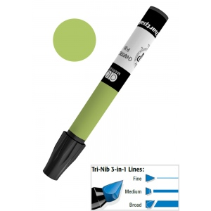 Chartpak® AD™ Art Marker Olive: Green, Xylene-Based, Tri-Nib, (model AP31/BX), price per box