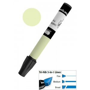 Chartpak® AD™ Art Marker Yellow Green: Green, Yellow, Xylene-Based, Tri-Nib, (model AP38/BX), price per box