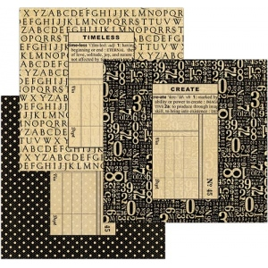 Graphic 45 - Staples - Policy Envelopes - Square Black