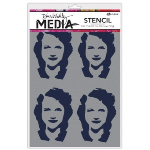 Ranger - Dina Wakley Media - Stencils - Four Women