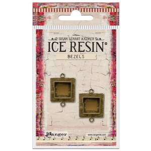 Ranger - ICE Resin - Milan Bezels Closed Back - Antique Bronze - Heart - Medium