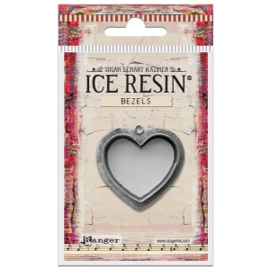 Ranger - ICE Resin - Milan Bezels Closed Back - Antique Silver - Rectangle - Large