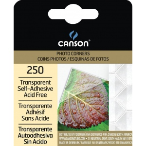 Canson® Archival Self-Adhesive Transparent Photo Corners & Squares: Clear, Mylar, 250-Pack, (model C100510368), price per 250-Pack