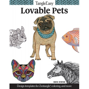 Design Originals - TangleEasy Lovable Pets Coloring Book