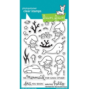 Lawn Fawn - Stamps - Mermaid for You Stamp Set