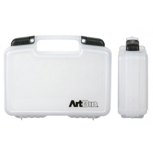 "ArtBin Small Quick View Standard Base Carrying Case: Clear Transparent, 10.5"" x 3.125"" x 8.375"""