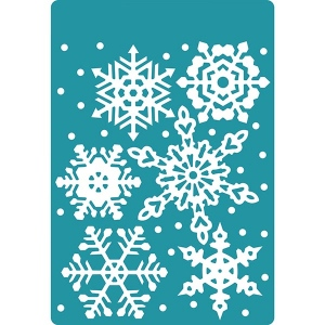 Sizzix - Textured Impressions Embossing Folder - Falling Snowflakes by Sharyn Sowell