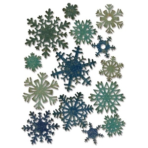 Sizzix - Tim Holtz Alterations - Thinlits Die Set - 14 Pack - Paper Snowflakes - Mini