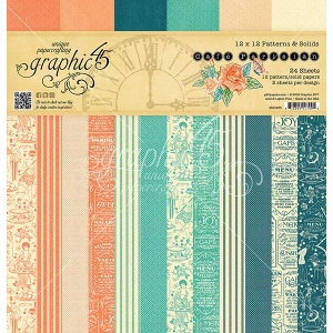 Graphic 45 - Cafe Parisian - 12x12 Patterns & Solids Pad