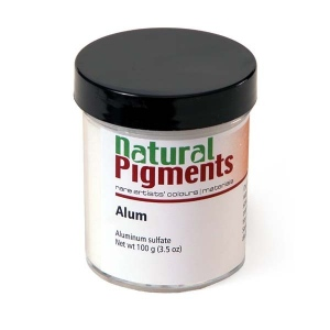Natural Pigments Aluminum Sulfate (Alum) 100 g - Color: White crystalline powder
