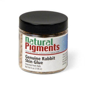 Natural Pigments Genuine Rabbit Skin Glue (4 oz vol) - Source: Rabbit hides
