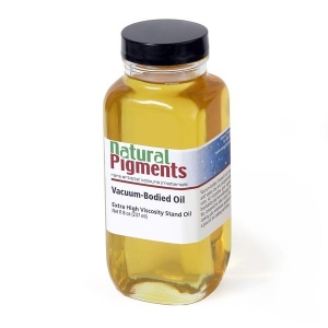 Natural Pigments Vacuum-Bodied Oil (Extra High Viscosity) Oil 8 fl oz - Natural Source: Linseed, Linum usitatissimum