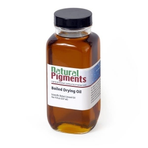 Natural Pigments Pale Drying Linseed Oil 8 fl oz - Natural Source: Linseed, Linum usitatissimum