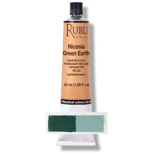Rublev Colours Nicosia Green Earth Pigment/Color Green