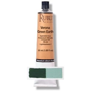 Natural Pigments Verona Green Earth 50 ml - Color: Green