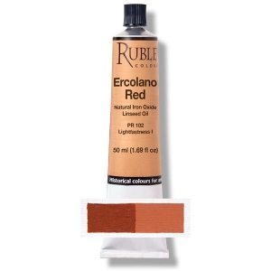 Natural Pigments Ercolano Red 50 ml - Color: Orange Red