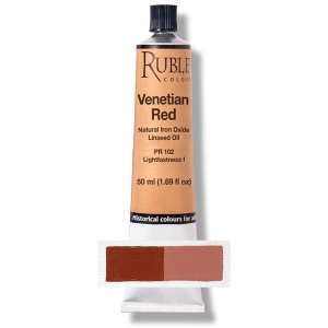 Natural Pigments Venetian Red 50 ml - Color: Deep Red