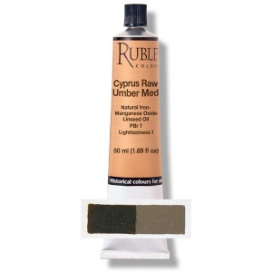 Natural Pigments Cyprus Raw Umber Medium 50 ml