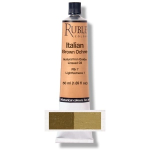 Rublev Colours Italian Brown Ocher 50 ml - Color: Brown