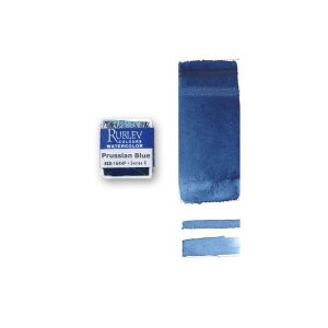 Rublev Colours Prussian Blue (Half Pan) - Color: Blue