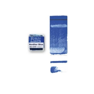 Verditer Blue Watercolor Paint