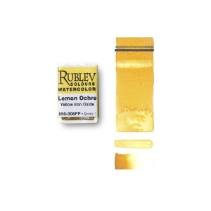 Natural Pigments Lemon Ocher (Full Pan) - Color: Yellow