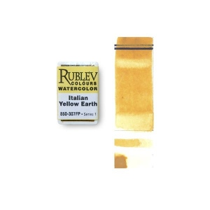 Natural Pigments Italian Yellow Earth (Full Pan) - Color: Yellow