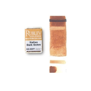 Natural Pigments Italian Natural Pigments Italian Dark Ocher (Full Pan) - Color: Orange