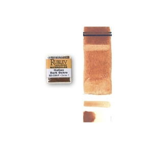Natural Pigments Italian Dark Ocher (Half Pan) - Color: Orange