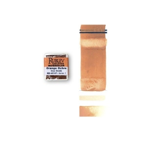 Natural Pigments Orange Ocher (Half Pan) - Color: Orange