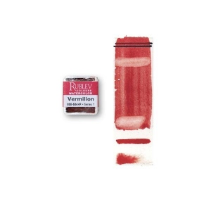 Natural Pigments Vermilion (Half Pan) - Color: Red