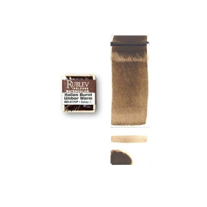 Natural Pigments Italian Burnt Umber (Half Pan) - Color: Brown