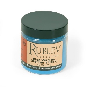Natural Pigments Blue Verditer 100  g - Color: Blue