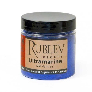 Natural Pigments Ultramarine Blue (Greenish Shade) (4 oz vol) - Color: Blue