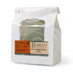 Rublev Colours Antica (Prun) Green Earth 500 g - Color: Green