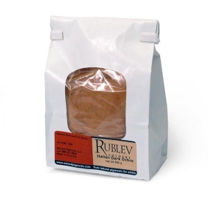 Rublev Colours Italian Natural Pigments Italian Dark Ocher 1 kg - Color: Yellow