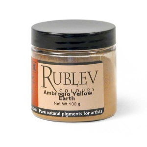 Rublev Colours Ambrogio Yellow Earth 100 g - Color: Yellow