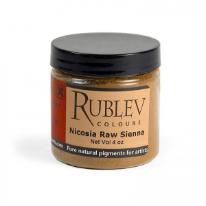 Natural Pigments Nicosia Raw Sienna (4 oz vol) - Color: Brown