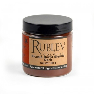 Natural Pigments Nicosia Natural Pigments Nicosia Burnt Sienna Dark 100 g - Color: Brown