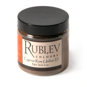 Rublev Colours Cyprus Raw Umber Dark (4 oz vol) - Color: Brown