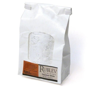 Rublev Colours Titanium Dioxide 1 kg - Color: White