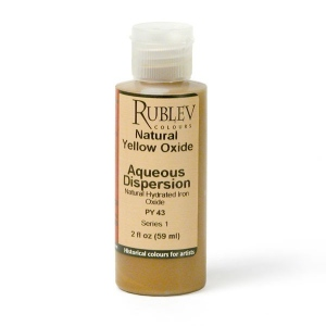 Rublev Colours Natural Yellow Oxide 2 fl oz - Color: Yellow