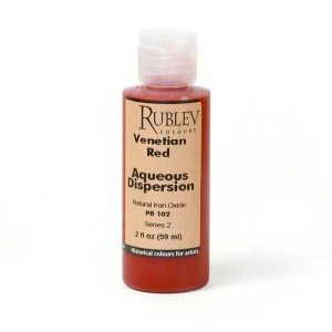 Rublev Colours Venetian Red 2 fl oz - Color: Red