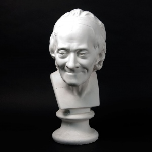 Natural Pigments Drawing Plaster Cast of Voltaire