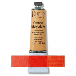 Rublev Colours Orange Molybdate 130 ml - Color: Orange
